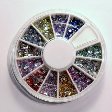 Glitterstone wheel Komma 12 AB colour