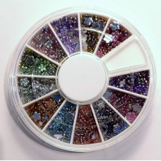 Glitterstone wheel flower 12 AB colour