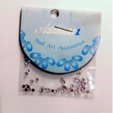 Nail art Glitterstones Pink, ronde diamantjes