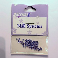 Nail art Glitterstones Purple, ronde diamantjes