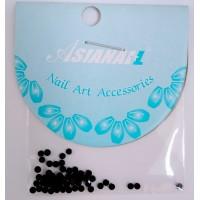 Nail art Glitterstones Black